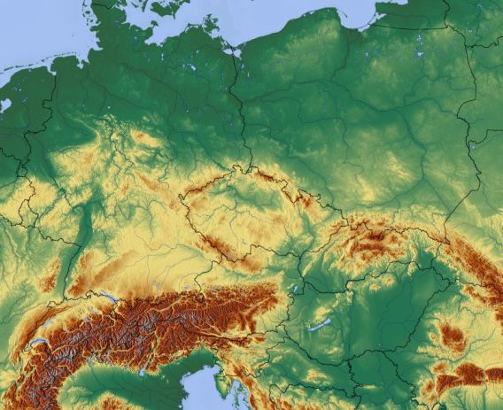 central_europe_relief_map_with_waterbodies_and_borders